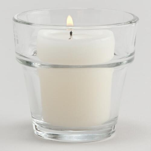Pot-Shaped Glass Votive Holders