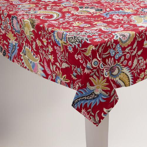 Red Harlow Tablecloth
