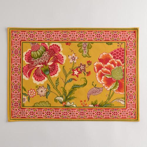 Linley Floral Placemats, Set of 4