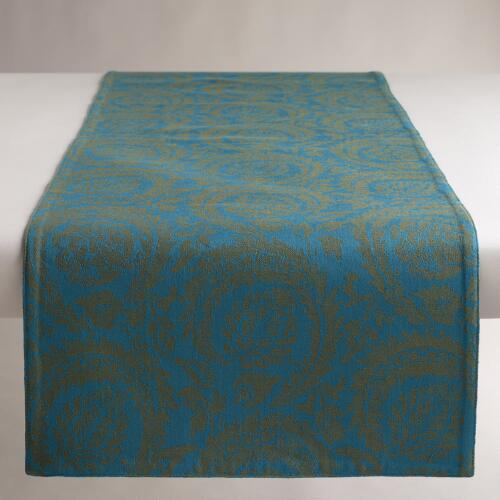 Ocean Sofia Jacquard Table Runner