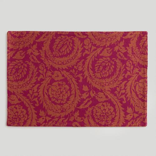 Sangria Sofia Jacquard Placemats, Set of 4