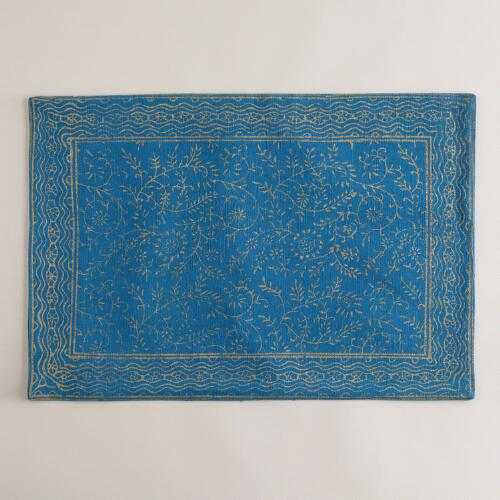Ocean and Gold Sundari Placemats, Set of 4