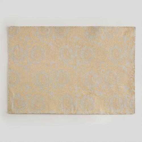 Twisted Floral Khadi Placemats, Set of 4