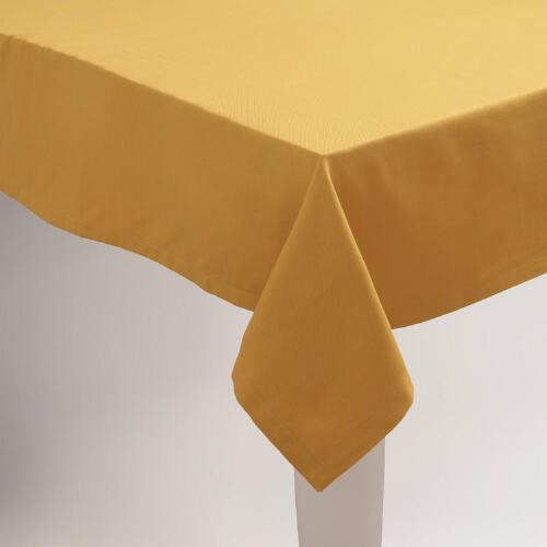 Golden Yellow Buffet Tablecloth