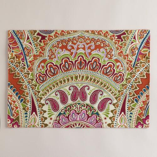 Venetian Sateen Paisley Placemats, Set of 4
