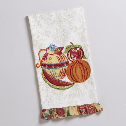 Fruit and Tea Applique Party Towel