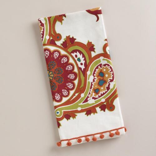 Multicolored Paisley Kitchen Towel