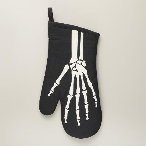 Halloween Skeleton Oven Mitt