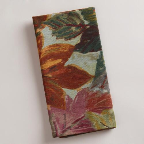 Autumn Leaves Napkins, Set of 4
