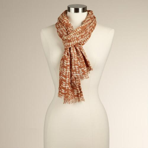 Rust Tribal Scarf