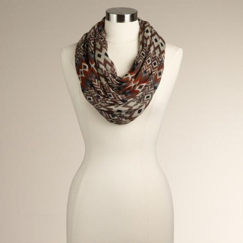 Tribal Diamond Infinity Scarf