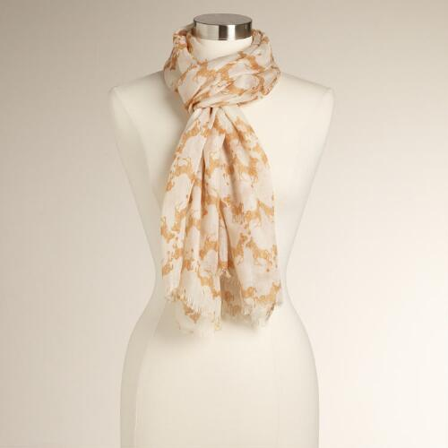 Orange Zebra Scarf
