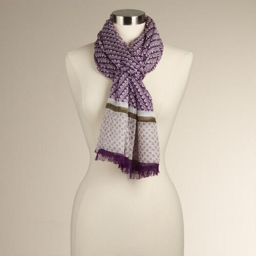 Purple Tribal Scarf