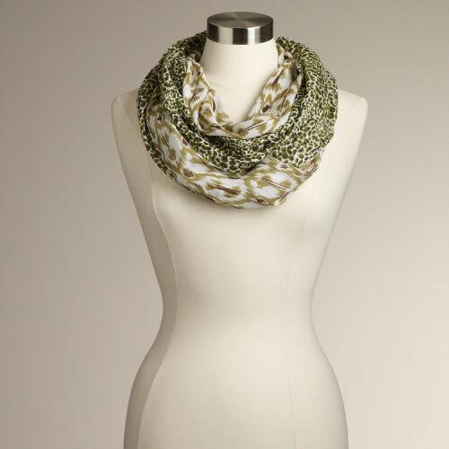 Leopard and Ikat Infinity Scarf