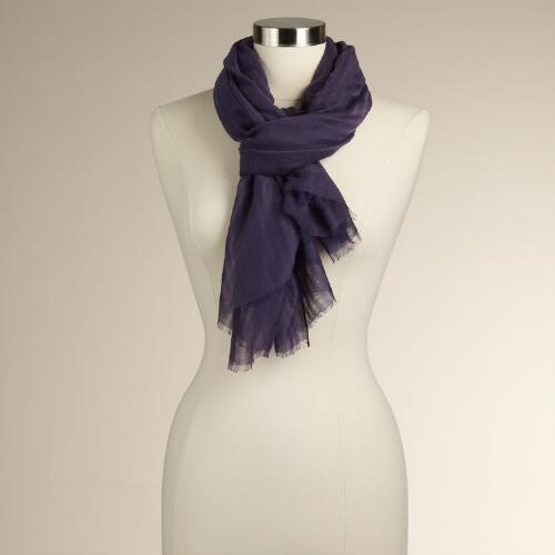 Plum Burnout Stripe Scarf