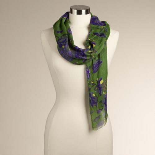 Green Rose Scarf