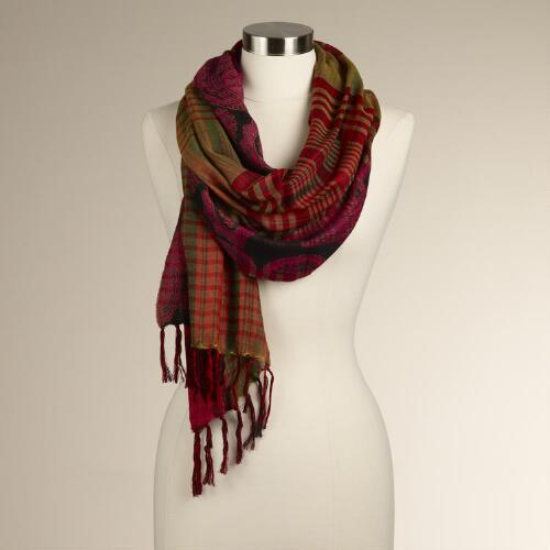 Paisley and Plaid Scarf