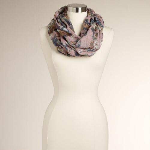 Blush Floral Infinity Scarf