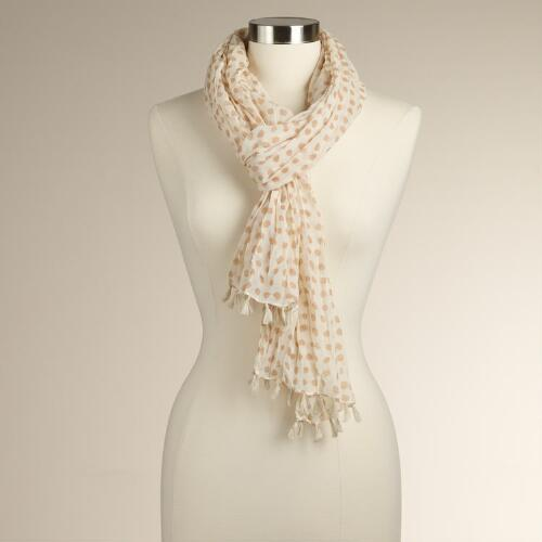Blush Polka Dot Scarf