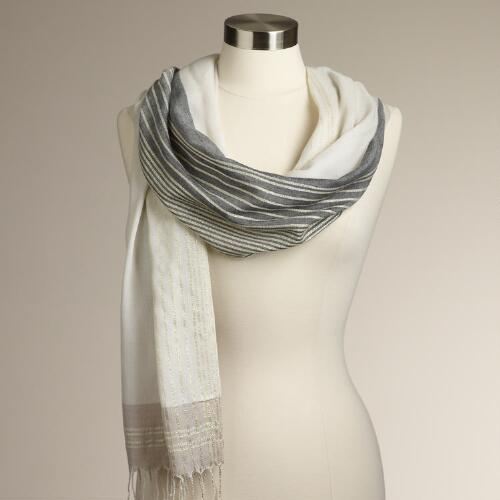 Striped Lurex® Scarf