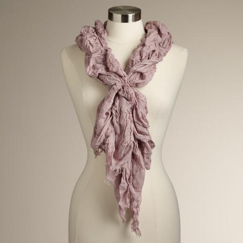 Blush- Ruched Scarf