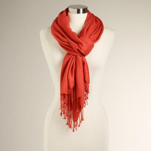 Spicy Orange Pashmina Shawl