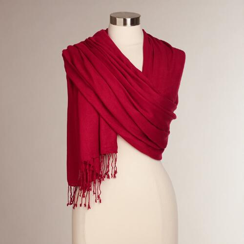 Chili Pepper Pashmina Shawl