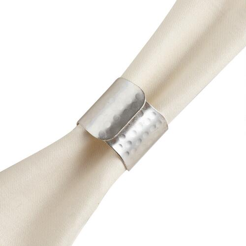 Silver Napkin Rings, Set of 6