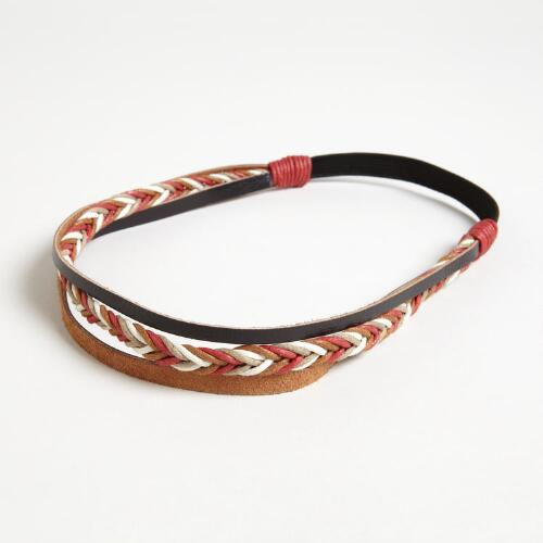 Braided Leather Headband