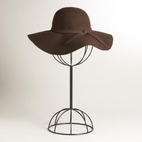Brown Floppy Wool Hat