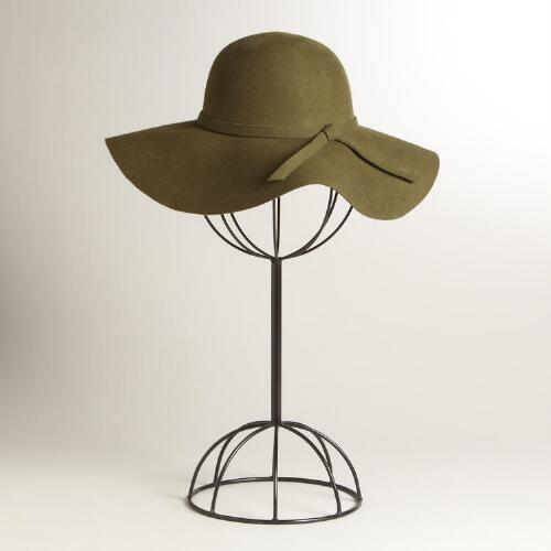 Green Floppy Wool Hat