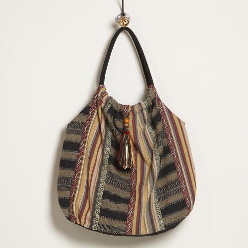 Striped Carpet Bag