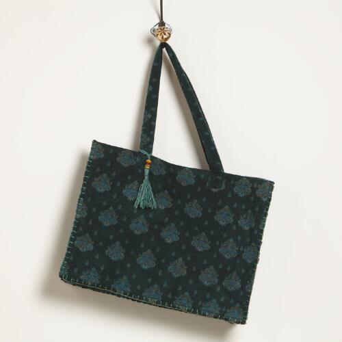 Hunter Green Shawl Tote