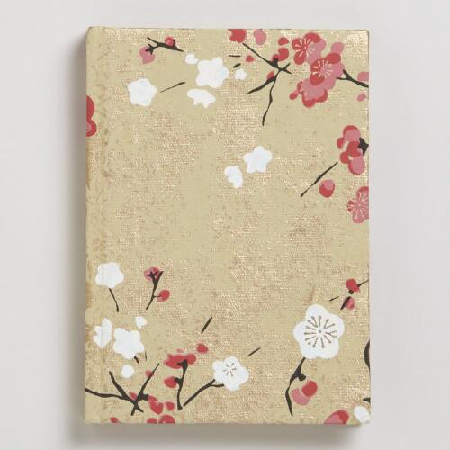 Asian Floral Gold Handmade Journal