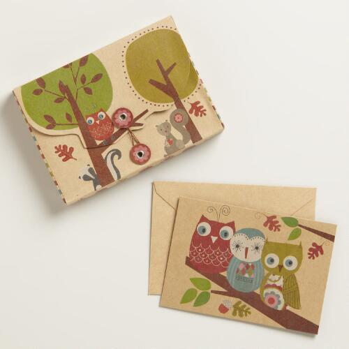 Krafty Owl Notecards, Set of 10