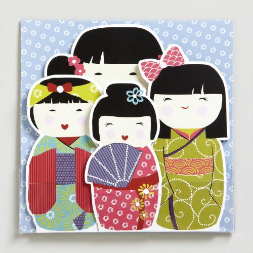 Kokeshi Doll Note Cards, Set of 8