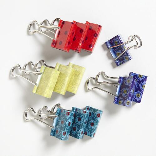 Kokeshi Print Binder Clips, Set of 12
