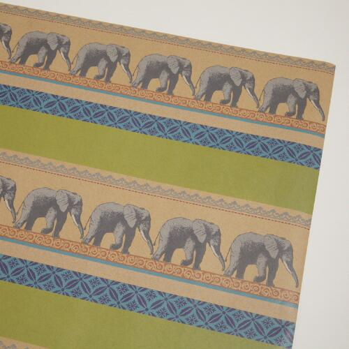 Elephant Animalia Kraft Wrap