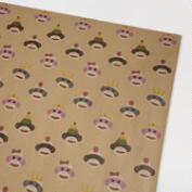 Sock Monkey Kraft Wrap