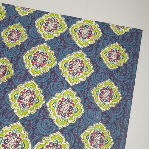 Green Medallion Handmade Gift Wrap