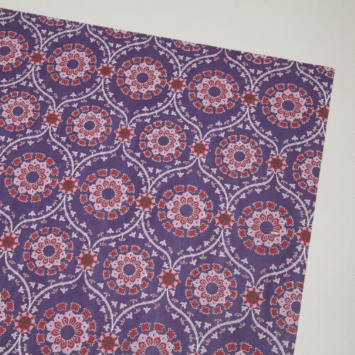 Purple and Pink Tradewinds Handmade Gift Wrap