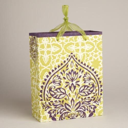 Large Green Dome Handmade Gift Bag