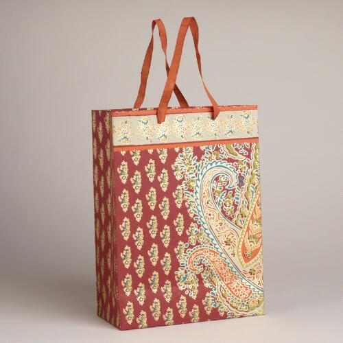 Large Venice Border Paisley Handmade Gift Bag