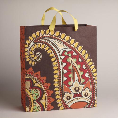 Extra Large Brown Rialto Handmade Gift Bag
