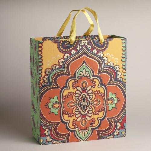 Extra Large Giant Spice Diamond Handmade Gift Bag
