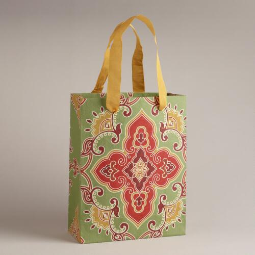 Large Green Marrakesh Medallion Handmade Gift Bag