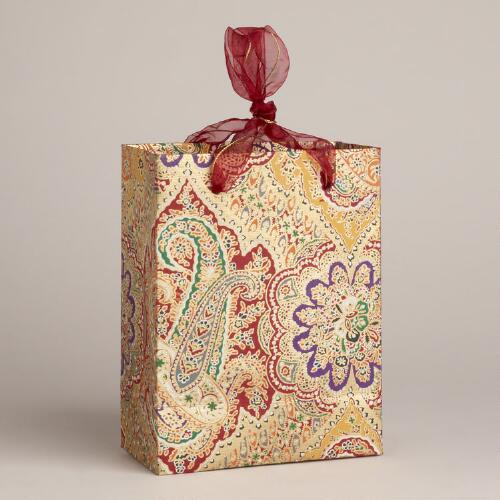 Small Gold Rialto Handmade Gift Bag