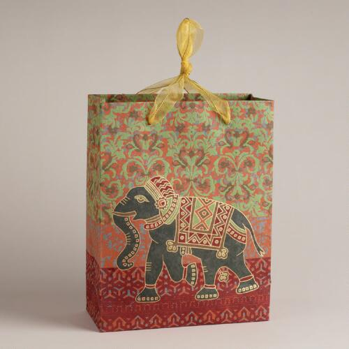 Large Elephant Handmade Gift Bag