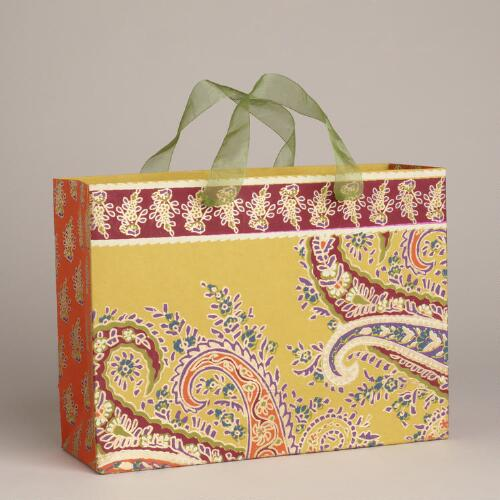 Large Rectangular Rialto Yellow Bag with Border