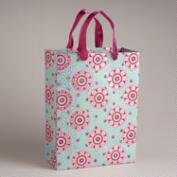 Large Pink Circle Jewel Print Handmade Gift Bag